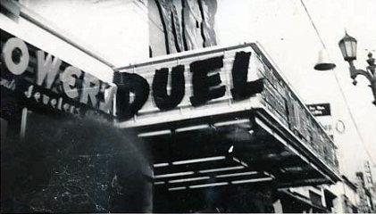 VOGUE Theatre marquee in 1945; Los Angeles, California.