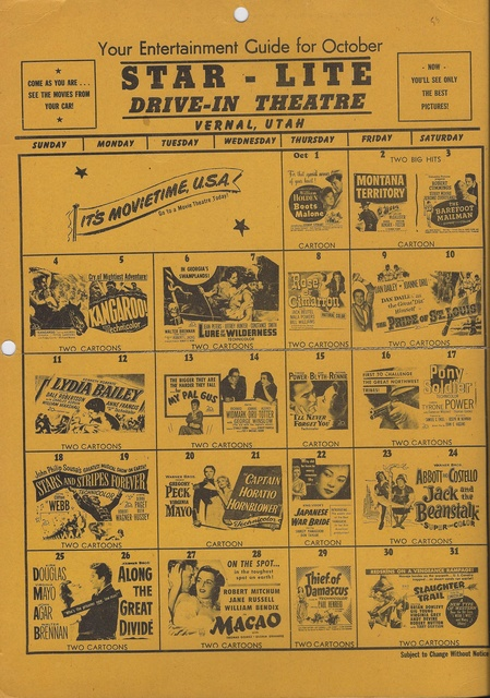 Starlite Drive In Calendar