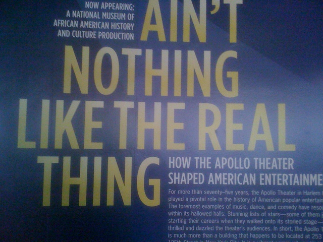 Smithsonian Institution's Apollo Theater exhibition