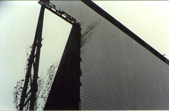 Closeup of screen damage