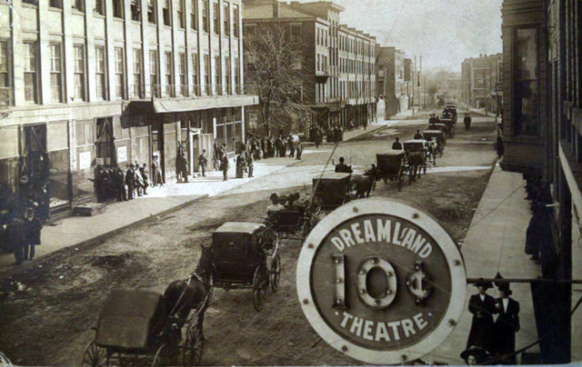 DREAMLAND Theatre sign, Galena, Illinois, 1920s.