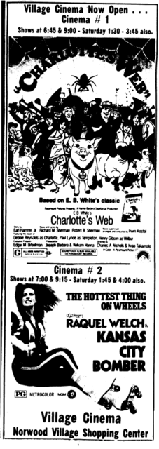 Opening ad for the Village Cinema