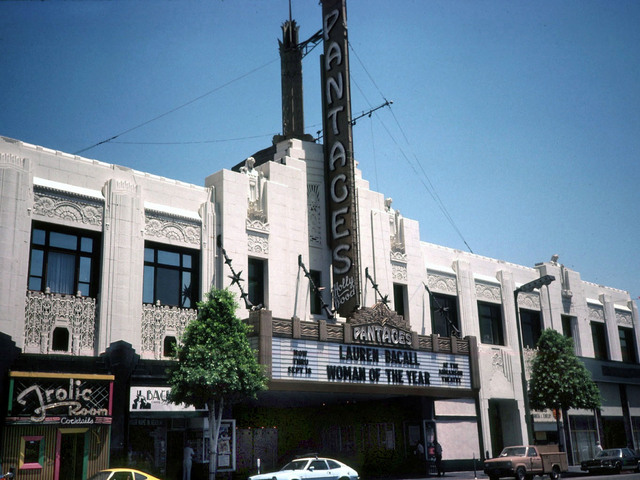 Pantages Theatre Hollywood 1983