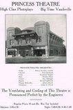 """Princess Theater """"High Class Photoplays, Bigtime Vaudeville"""""""