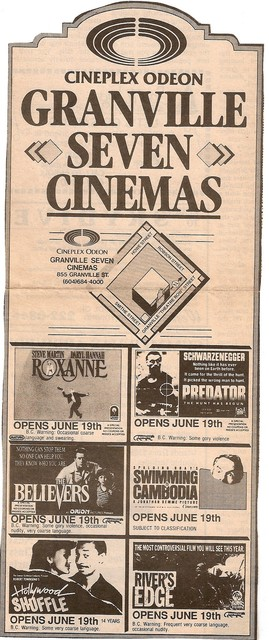 Opening Day Ad from June 19, 1987