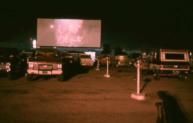 enjoying a movie on a summer evening at the Terrace