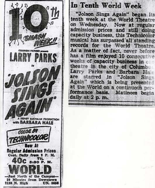 """Jolson Sings Again"""
