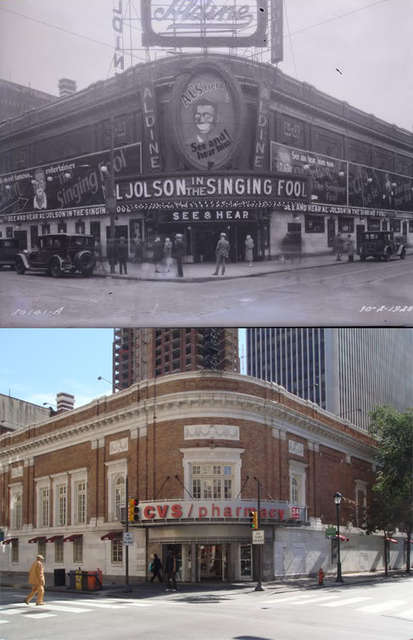 Aldine Theater Then and Now