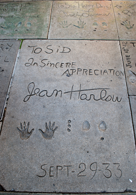 Jean Harlow's Footprints