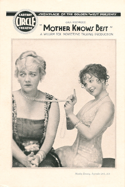Carthay Circle program for September 24, 1928