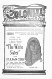 April, 1924 program from the Colonial Theater