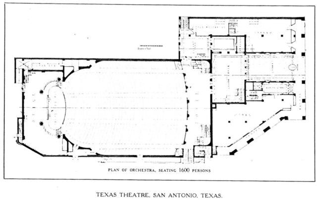 Texas Theatre, Dallas - Floor Plan - Main Floor