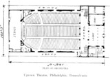 Uptown Theatre, Philadelphia - Main Floor Plan