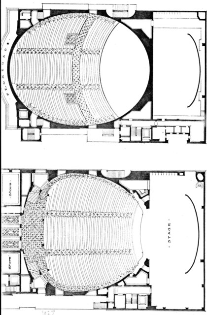 Ziegfield Theatre (Original) - Floor Plans