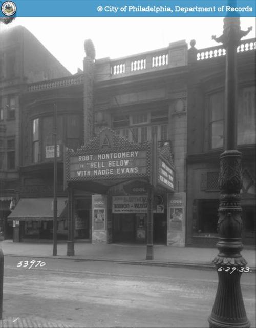 Arcadia Theatre  1529 Chestnut Street, Philadelphia, PA
