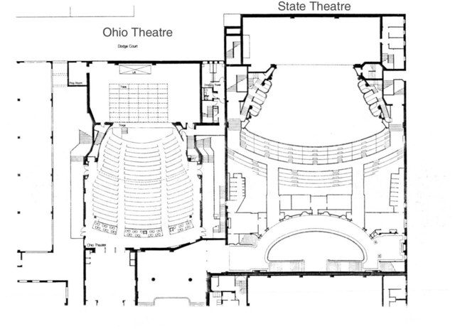 State & Ohio Theatres - Floor Plans