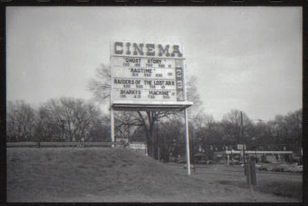 Charlottetown Mall Cinemas Marquee 1981
