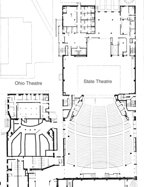 Ohio & State theatres - Floor Plans