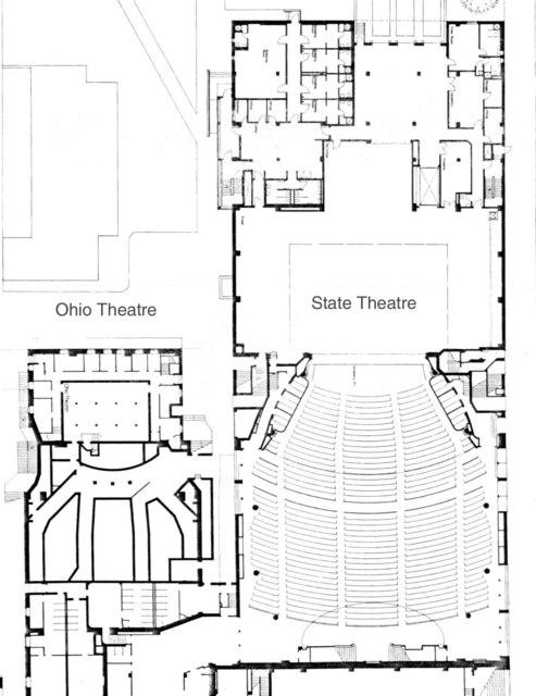Ohio & State theatres - Floor Plans
