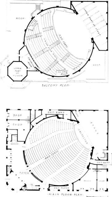 Carthay Circle Theatre, Los Angeles - Floor Plan