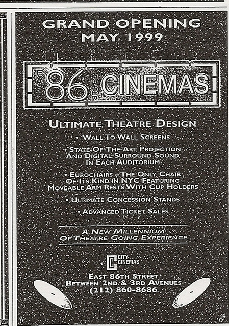 east 86th street cinemas in new york ny cinema treasures