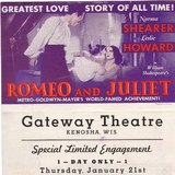Promotional flyer: GATEWAY Theatre, Kenosha, Wisconsin.