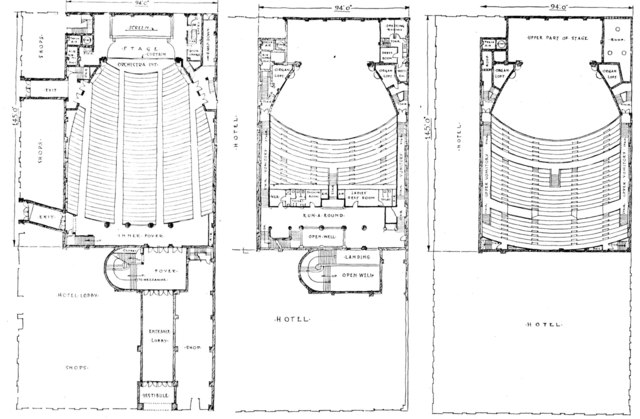 Metropolitan Theatre, Houston - Floor Plans