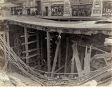 Subway construction at KNICKERBOCKER Theatre, New York, New York.