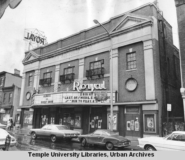 ROYAL THEATER 1524 South Street 1970s