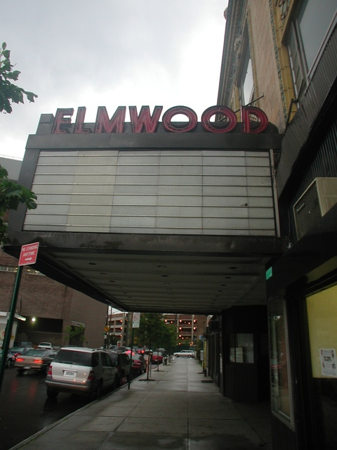 Elmwood Theatre marquee - 2002