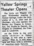 """Yellow Springs Theater Opens"""