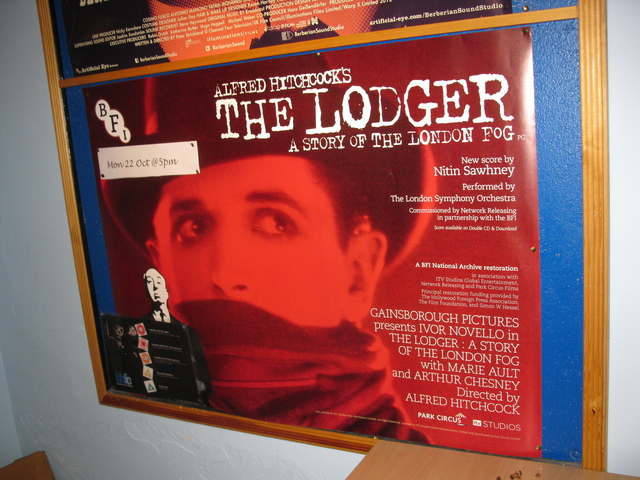 22 Oct 2012 The Lodger poster