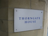 24 Oct 2012 close up of Thorngate House nameplate