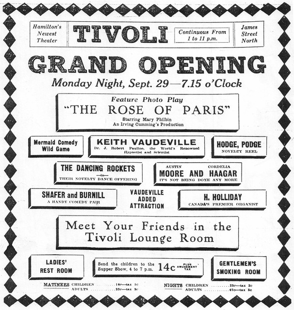Opening Night in Sept 1924