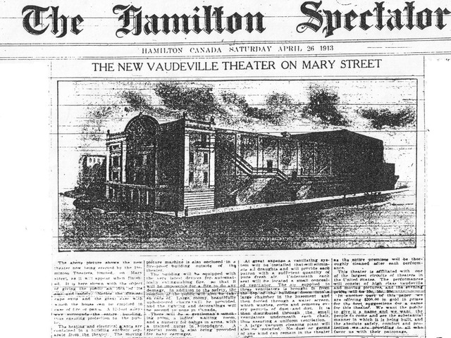 Theatre Annoucement April 1913