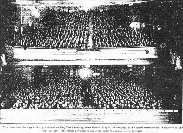 Lyric Interior New years day 1914