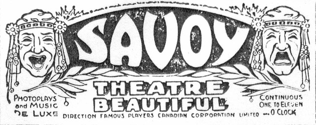 Savoy Theatre logo in 1920