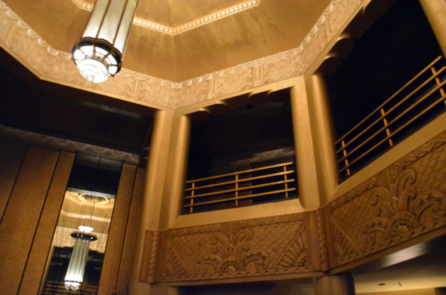 theatre lobby, facing balcony landing