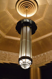 lobby chandelier, closer view