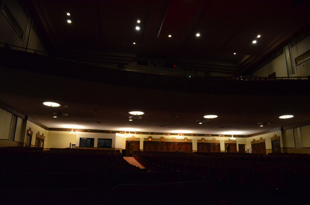 back of theatre, seen from stage