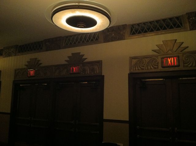doors at back of theatre