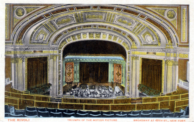 RIVOLI Theatre; New York, New York.