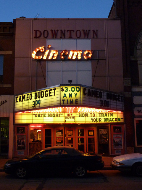 Cameo Budget Theatre at Night - June, 2010
