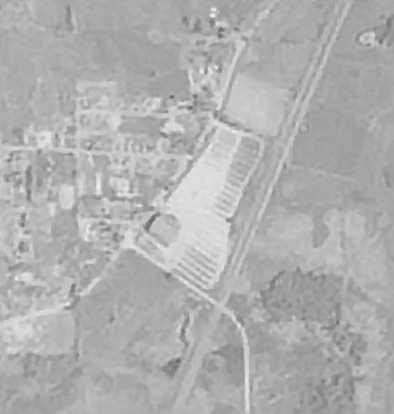 1953 aerial photo, where was the drive-in