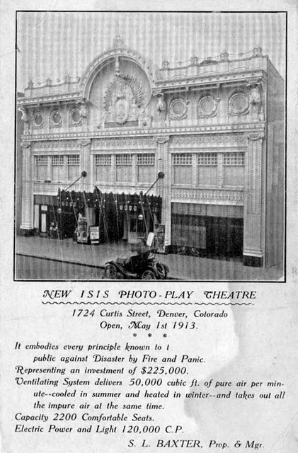 ISIS Theatre; Denver, Colorado, 1913.