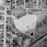 Aerial view of Lincoln Drive-In