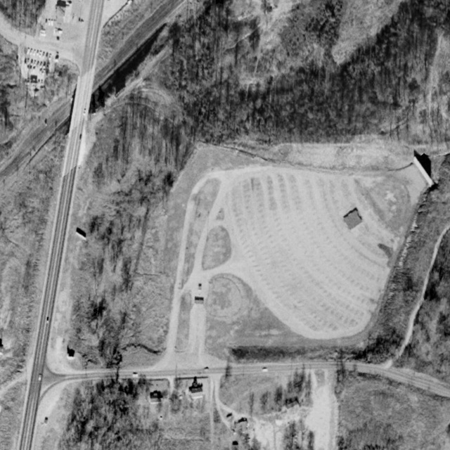 Aerial view of Frayser Drive-In