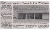 <p>Fox theater 1967 at Westroads mall.</p>