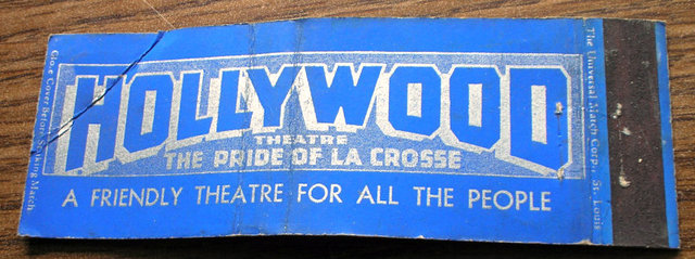 Matchbook, HOLLYWOOD Theatre; La Crosse, Wisconsin.