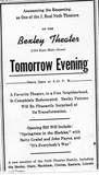 """Tomorrow Evening"""